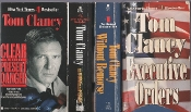 used books for inmates: Clancy, four big bestsellers