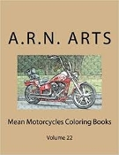 Mean Motorcycles Coloring Books